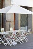 Café de la calle Imágenes de archivo libres de regalías