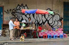 Café de la calle, Camboya Imagen de archivo libre de regalías
