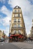 Café de la calle de París Imagen de archivo libre de regalías