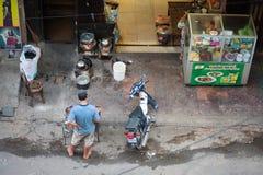 Café de la calle en Camboya Imágenes de archivo libres de regalías