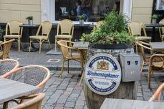 Café de la calle en el centro histórico de Utrecht, los Países Bajos Fotos de archivo