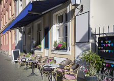 Café de la calle en Potsdam imagenes de archivo