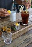 Café de la firma Fotografía de archivo