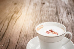 Café de la leche del capuchino Fotos de archivo libres de regalías