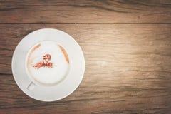 Café de la leche del capuchino Imágenes de archivo libres de regalías