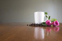 Café de la mañana con amor Imágenes de archivo libres de regalías