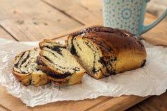 Café de la mañana con la panadería Foto de archivo libre de regalías