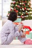 Café de la mañana de la Navidad Fotografía de archivo libre de regalías