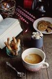 Café de la mañana de la Navidad Imagenes de archivo