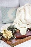 Café de la mañana en cama Imagenes de archivo