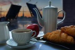 Café de la mañana en St Petersburg Fotos de archivo libres de regalías