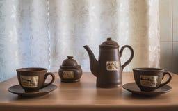 Café de la mañana para dos imagen de archivo