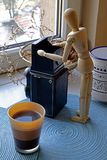 Café de la mañana y extracto de la fotografía fotos de archivo
