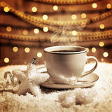 Café de la Navidad Imagen de archivo libre de regalías