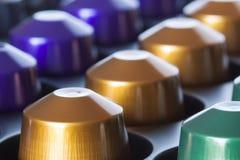 Café de la púrpura del oro verde Imágenes de archivo libres de regalías