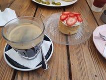 Café de la paja fotografía de archivo libre de regalías