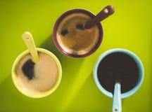 Café de la pizca de las tazas imagen de archivo