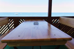 Café de la playa del  de Ð Imagen de archivo