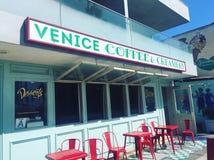 Café de la playa de Venecia Fotos de archivo libres de regalías