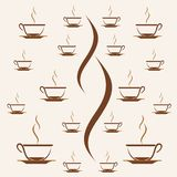 Café de la taza del modelo de la impresión, fondo del modelo de la taza de té libre illustration