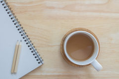 Café de la taza para el trabajo Imagen de archivo