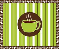 Café de la tela a rayas Fotos de archivo