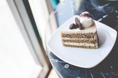 Café de la torta Imagen de archivo libre de regalías