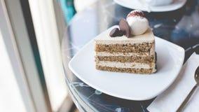 Café de la torta Fotografía de archivo libre de regalías