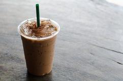 Café de latte de glace photographie stock