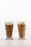 Café de Latte sur le blanc Photographie stock