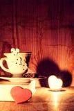 Café de livre de jour du ` s de Valentine Image stock