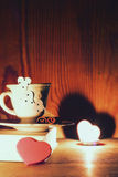 Café de livre de jour du ` s de Valentine Photo stock