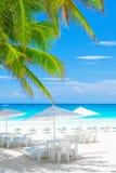 Café de luxe de plage Photos libres de droits