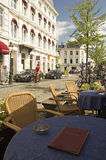 Café de Maastricht Imagenes de archivo