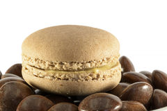 Café de Macaron Imagenes de archivo