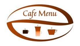 Café de Manu - palabras e imágenes en el grano de café stock de ilustración