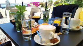 Café de matin photos stock