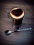 Café de matin avec amour Photographie stock libre de droits