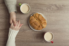 Café de matin avec amour Images libres de droits