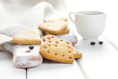 Café de matin avec des biscuits Photo stock