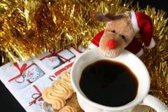 Café de matin de Noël Images stock