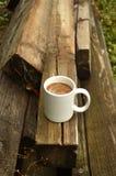 Café de matin extérieur Photos stock