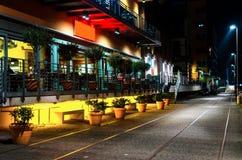 Café de medianoche al aire libre Imagen de archivo libre de regalías