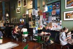 Café de medianoche del café express, Welligton Fotos de archivo libres de regalías