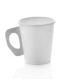 Café de papel do copo no fundo branco Imagens de Stock