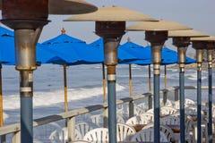 Café de patio sur le pilier Photos stock