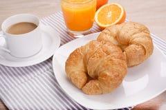 Café de petit déjeuner et jus d'orange photos libres de droits