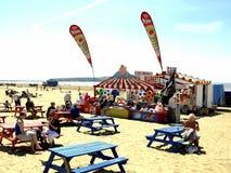 Café de plage, Weston Super Mare Image libre de droits