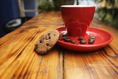 Café de refroidissement de temps Photographie stock