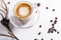 Café de refroidissement de temps Image stock